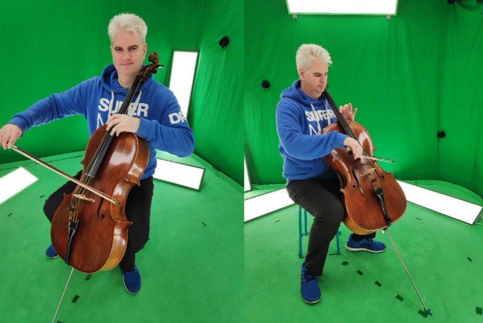 V-SENSE opera project (1st 6DoF live action VR) testing with distinguished musician Martin Johnson!