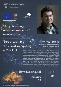 Professor Smolic invited by The Cusack Lab to present at Deep Learning Meets Neurosience seminar series!