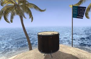 A virtual island and a bass drum