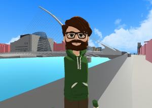 AltspaceVR selfie taken in Dublin 3D model