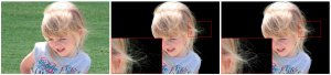 Foreground color prediction through inverse compositing